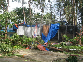 One of the facilities at the BNVTS destroyed by Typhoon Milenyo